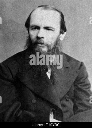 Fyodor Mikhailovich Dostoevsky, sometimes transliterated Dostoyevsky, was a Russian novelist, short story writer, essayist, journalist and philosopher. Scanned from image material in the archives of Press Portrait Service - (formerly Press Portrait Bureau). - Stock Photo