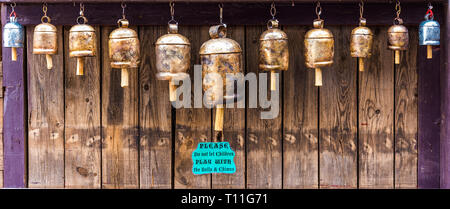 Hanging bells at a festival - Stock Photo