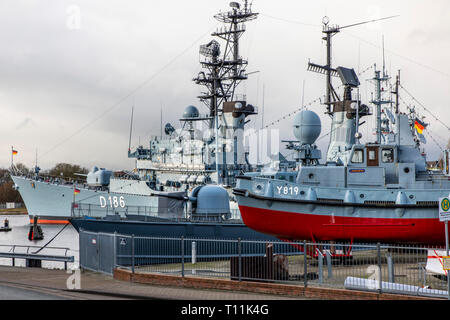 Wilhelmshaven, German Navy Museum, on the south beach, history of the German Navy, warships of the German Navy and the former NVA, destroyer Mölders o - Stock Photo