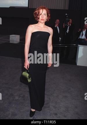 LOS ANGELES, CA. June 05, 1997: Gillian Anderson at Gucci fashion show to benefit AIDS Project Los Angeles. - Stock Photo