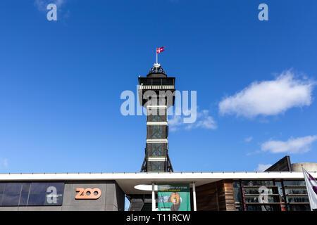 Copenhagen Zoo Observational Tower - Stock Photo