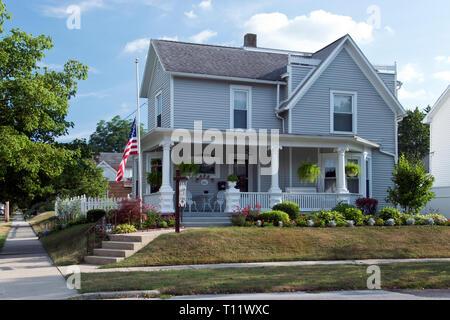 Boyhood home of Apollo 11 astronaut Neil Armstrong, the first man to step on the moon, at Wapakoneta, Ohio. - Stock Photo