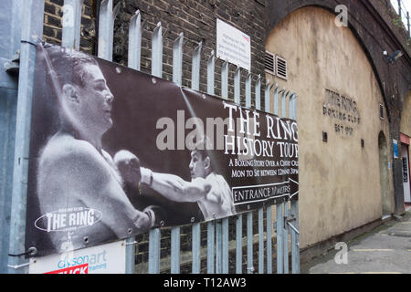 The Ring Boxing Club, Ewer Street, Southwark, London SE1, UK - Stock Photo