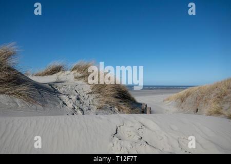 Dunes on the island of Langeoog - Stock Photo