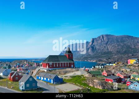 The new church, Sisimiut, Greenland - Stock Photo