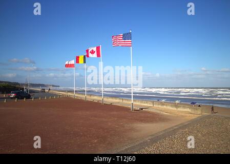 Omaha Beach, Normandy, France - WW2 D Day war memorial - Stock Photo