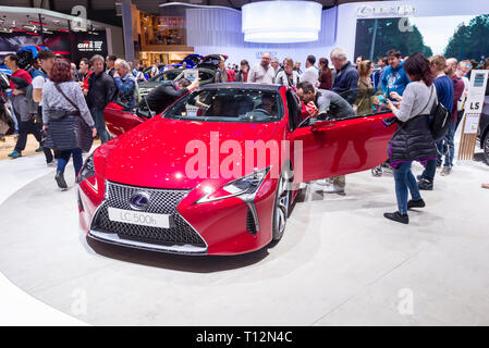 Geneva / Switzerland - march 9 2019 : Geneva International Motor Show,  Lexus LC Convertible Concept - Stock Photo