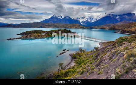 Lake Pehoe - Torres del Paine N.P. (Patagonia, Chile) - Stock Photo