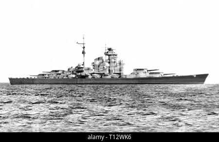 German Battleship Tirpitz - Stock Photo