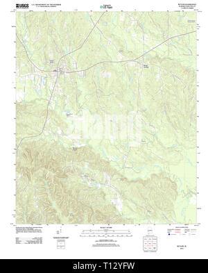 USGS TOPO Map Alabama AL Butler 20111207 TM - Stock Photo