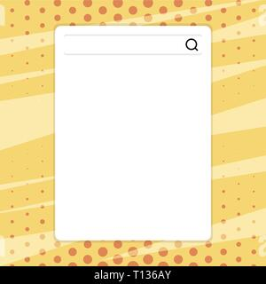 Search Bar with Magnifying Glass Icon photo on Blank Vertical White Screen Design business Empty template isolated Minimalist graphic layout template  - Stock Photo