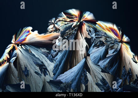 Crystals of citric acid, a  common food preservative,. - Stock Photo
