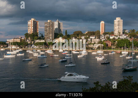 Darling Point seen across Rushcutters Bay, Sydney - Stock Photo