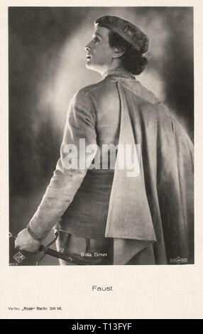 Promotional photography of Gösta Ekman in Faust (1926) - Silent movie era - Stock Photo