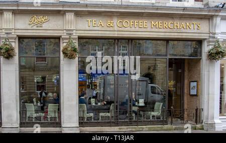 Famous tea rooms in York - Stock Photo