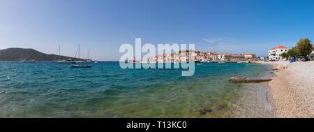 Croatia, Dalmatia, Primosten, Adria, beach - Stock Photo