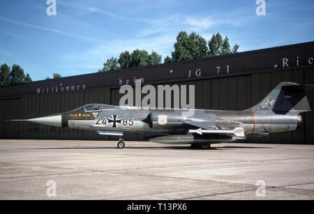 Bundeswehr Luftwaffe Lockheed F-104G Starfighter - German Air Force Lockheed F-104G Starfighter - Stock Photo