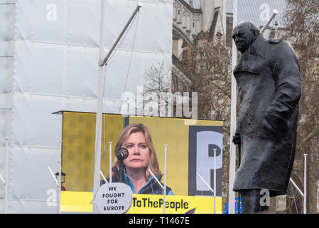 Put it to the People march, London. A huge protest march taking place in London in support of having a final Brexit deal being put to the people to vote on, or revoke article 50 - Stock Photo