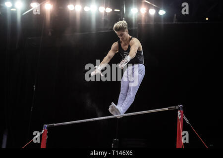 London, UK. 23rd March, 2019. Jay Thompson during the Matchroom Multisport presents the 2019 Superstars of Gymnastics at The O2 Arena on Saturday, 23 March 2019. LONDON ENGLAND. Credit: Taka G Wu/Alamy News - Stock Photo