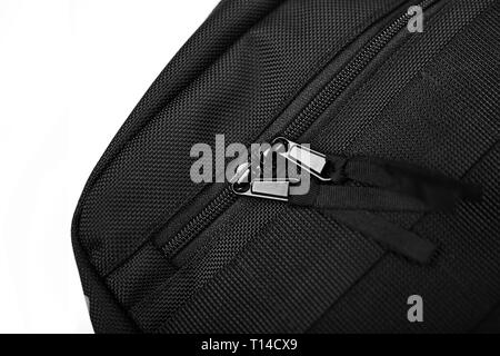 Black bag on a white isolated background. - Stock Photo