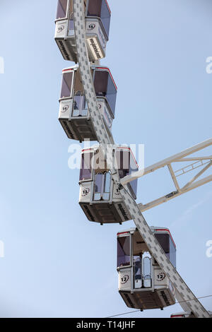 big wheel on Koninginnedag Dam Square in Amsterdam Netherlands - Stock Photo