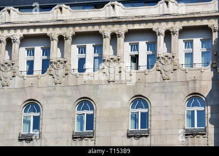 Four Seasons Hotel Gresham Palace, Gresham-palota, Budapest, Magyarország. - Stock Photo