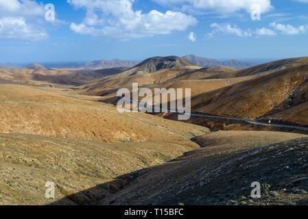 Spain, Canary Islands, Fuerteventura, landscape of Parque Rural de Betancuria - Stock Photo