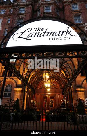 The Landmark Hotel, Marylebone, London, England, UK - Stock Photo