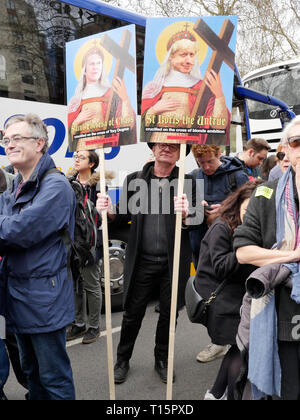 London, England. 23rd March, 2019.  Thousands of people march to Westminster to demand a second referendum on whether or not Britain should leave the EU.  Credit: Anna Stowe/Alamy Live News - Stock Photo