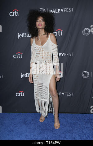 Los Angeles, USA. 23rd March 2018. Los Angeles, California -Indya Moore. The Paley Center For Media's 2019 PaleyFest LA - FX's ''Pose'' held at Dolby Theater. Photo Credit: PMA/AdMedia Credit: Pma/AdMedia/ZUMA Wire/Alamy Live News - Stock Photo