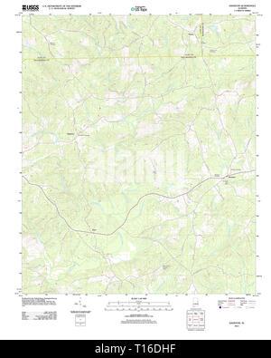 USGS TOPO Map Alabama AL Daviston 20111206 TM - Stock Photo