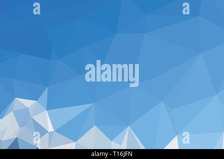 Abstract polygonal background of many triangles in blue colors - Stock Photo