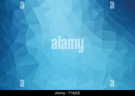 Elegant blue abstract low polygon vector background - Stock Photo