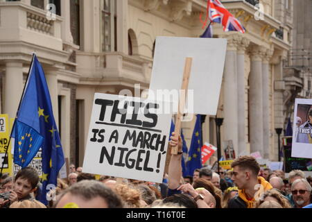 Put it to the People March in London Saturday 23rd March 2019. - Stock Photo