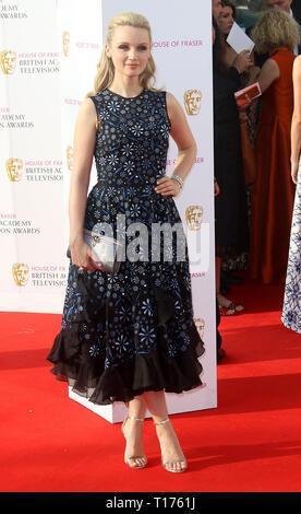 May 08, 2016 - London, England, UK - BAFTA TV Awards 2016, Royal Festival Hall - Red Carpet Arrivals Photo Shows: Emily Berrington - Stock Photo