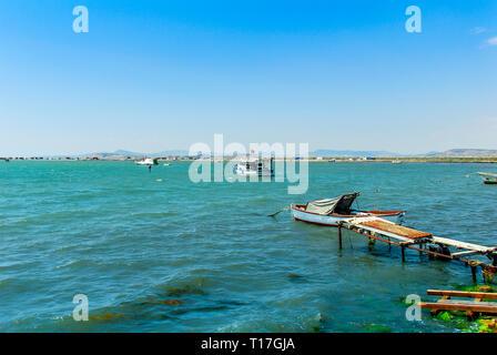 Izmir, Turkey, 26 May 2008: Boats at Izmir Bird paradise - Stock Photo