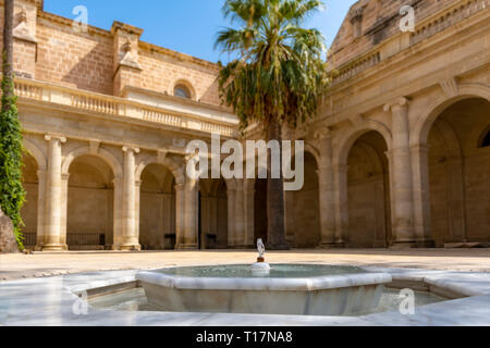 It is a rectangular neoclassical cloister, with four galleries, it was undertaken between 1785 and 1797, when it was Bishop Fray Anselmo Rodriguez. - Stock Photo