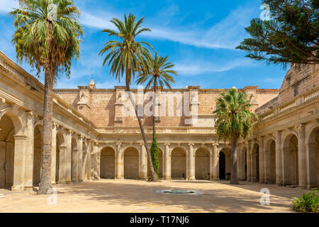 it is a rectangular neoclassical cloister, with four galleries, it was undertaken between 1785 and 1797, the entrance from the temple, is located in t - Stock Photo