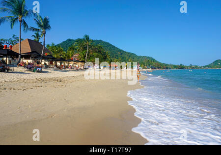 Lamai Beach on Koh Samui, Gulf of Thailand, Thailand - Stock Photo