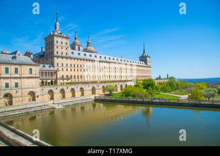 Royal Monastery. San Lorenzo del Escorial, Madrid province, Spain. - Stock Photo