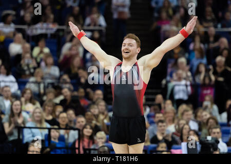 London, UK. 23rd Mar, 2019. during the Matchroom Multisport presents the 2019 Superstars of Gymnastics at The O2 Arena on Saturday, 23 March 2019. LONDON ENGLAND. Credit: Taka Wu/Alamy Live News - Stock Photo