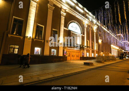 Moscow, Russia. 23rd Mar, 2019. MOSCOW, RUSSIA - MARCH 23, 2019: A view of the Stanislavsky and NemirovichDanchenko Moscow Academic Music Theatre during the annual Theatre Night event. Vladimir Gerdo/TASS Credit: ITAR-TASS News Agency/Alamy Live News Stock Photo
