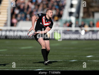 Trailfinders Sports Ground, London, UK. 24th Mar, 2019. Betfred Super League rugby, London Broncos versus Hull FC; Jordan Abdull of London Broncos Credit: Action Plus Sports/Alamy Live News - Stock Photo