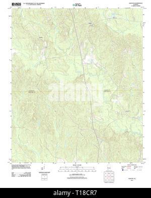 USGS TOPO Map Alabama AL Gaston 20111207 TM - Stock Photo