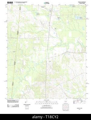 USGS TOPO Map Alabama AL Geiger 20111207 TM - Stock Photo