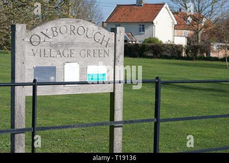 Oxborough village green, Norfolk - Stock Photo
