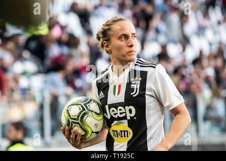 Turin, Italy. 24th Mar, 2019. Valentina Cernoia during Juventus Women vs Fiorentina Women. Juventus Women won 1-0 at Allianz Stadium, in Italy 24th march 2019 Credit: Alberto Gandolfo/Pacifici Press/Alamy Live News - Stock Photo