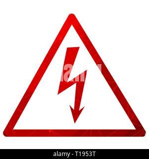 High Voltage Symbol. - Stock Photo