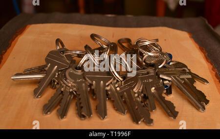 Different yail keys - Stock Photo