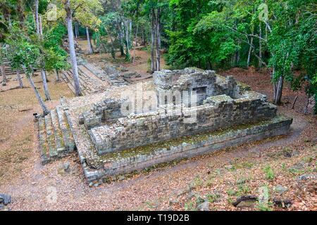World Famous Copan Ruins Archeological Site of ancient Maya Civilization, a UNESCO World Heritage Site in Honduras near Guatemala Border - Stock Photo